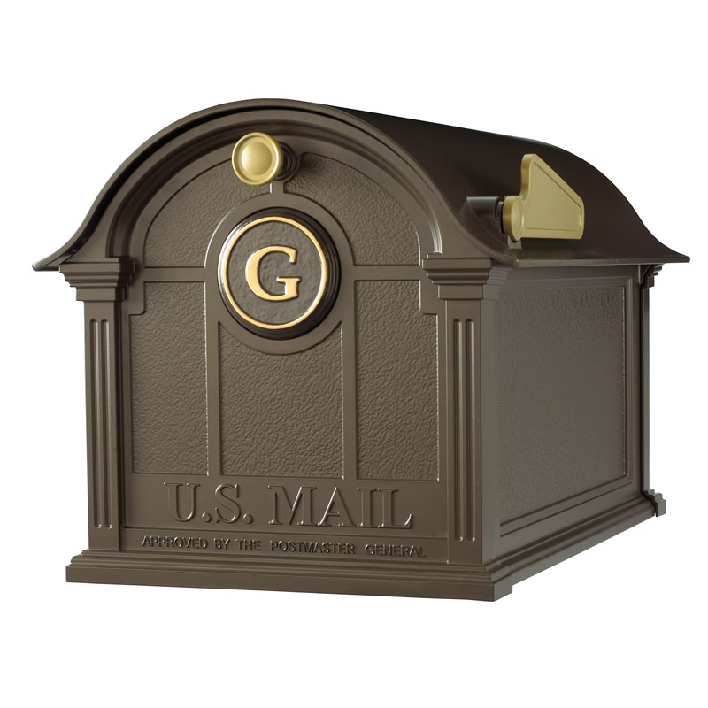 Balmoral Mailbox Monogram Package - Bronze