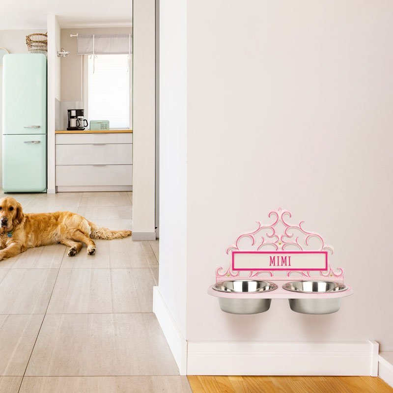 Personalized Wall-Mount Pet Bowl Feeder