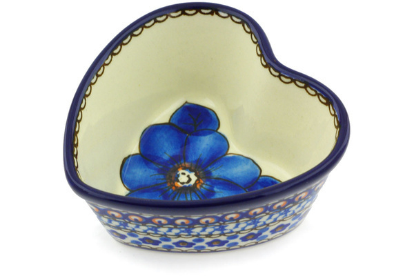 Polish Pottery Heart Shaped Bowl 4