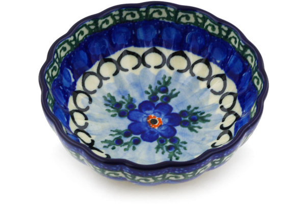 Polish Pottery Small Fluted Bowl 5