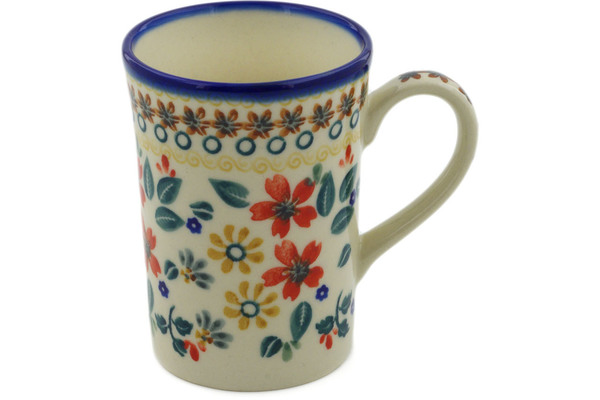 Polish Pottery Mug 8 oz by Ceramika Bona