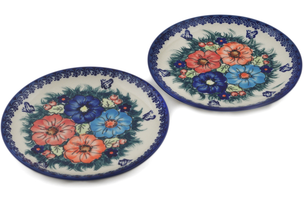 Polish Pottery Set of 2 Dessert Plates by Ceramika Bona