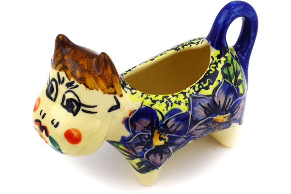 Polish Pottery Cow Shaped Creamer 2 oz by Cer-Raf