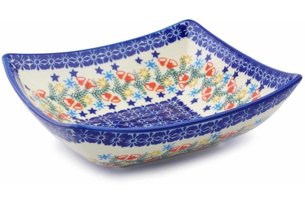 Polish Pottery Square Bowl 8
