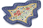 Polish Pottery Christmas Tree Tray 9