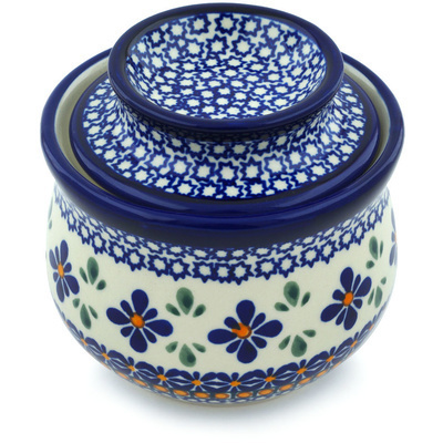 Polish Pottery Butter Dish 4