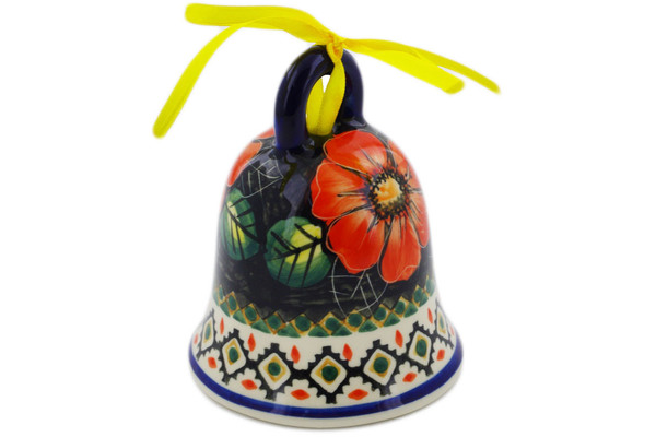 Polish Pottery Bell Ornament 4