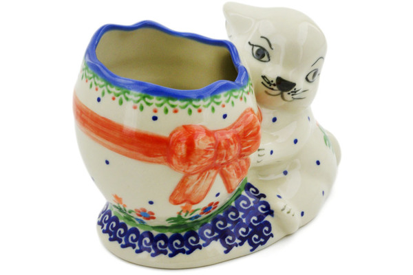Polish Pottery Bunny Shaped Jar 6