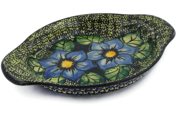 Polish Pottery Platter with Handles 9