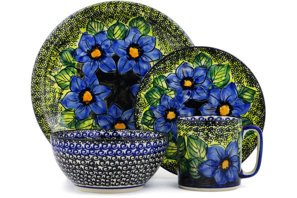 Polish Pottery Place Setting 4-Piece by Cer-Raf