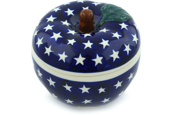 Polish Pottery Apple Baker 5
