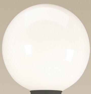 White Globe Replacement for Patio Lamps  - 7.5