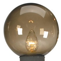 Bronze Globe Replacement for Patio Lamps  - 7.5