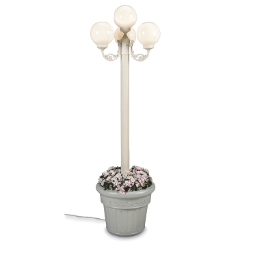 European - Portable Electric Park Style Planter Lamp