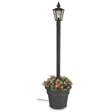 Cambridge - Electric Single Patio Lantern Planter Lamp