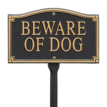 Beware of Dog Wall/Lawn Statement Plaque