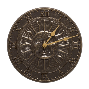 Sunface Indoor/Outdoor Wall Clock