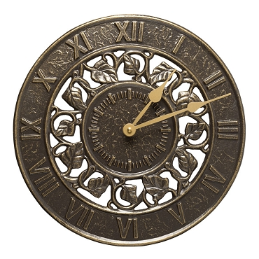 Ivy Silhouette Indoor/Outdoor Wall Clock
