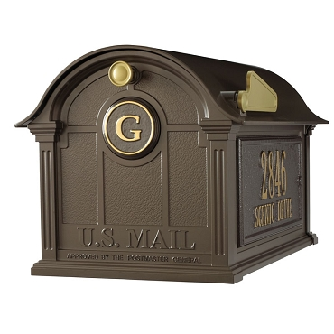 Balmoral Mailbox Side Plaques and Monogram Package - Bronze