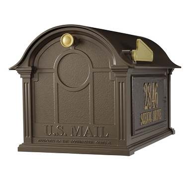 Balmoral Mailbox Side Plaques Package - Bronze