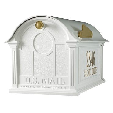 Balmoral Mailbox Side Plaques Package - White