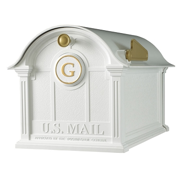 Balmoral Mailbox Monogram Package - White