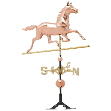 Copper Running Horse Weathervane