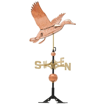 Copper Duck Weathervane