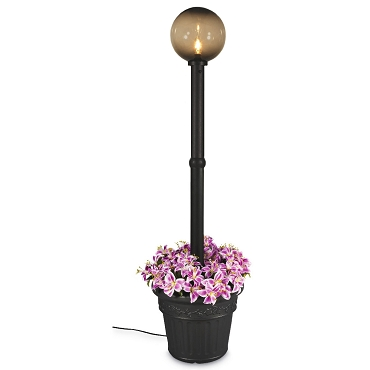 Milano - Black with Bronze Globe Lantern Planter