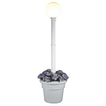 Milano - White with White Globe Lantern Planter