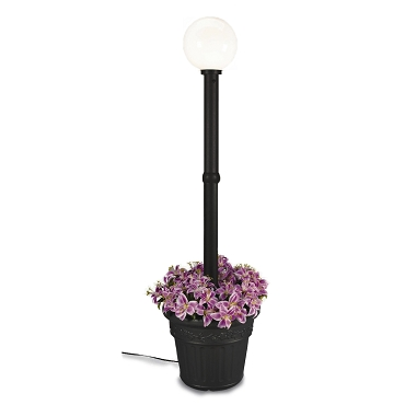 Milano - Black with White Globe Lantern Planter