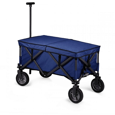 Adventure Wagon Elite Portable Utility Wagon with Table & Liner, (Blue)