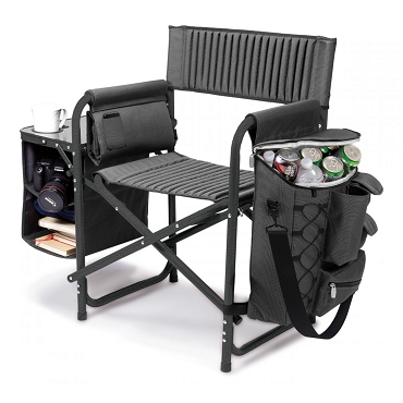Fusion Backpack Chair with Cooler, (Dark Gray with Black Accents)