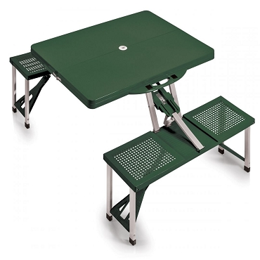 Portable Folding Picnic Table with Seats, (Hunter Green)