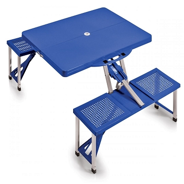 Portable Folding Picnic Table with Seats, (Royal Blue)