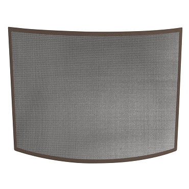 SINGLE PANEL CURVED BRONZE WROUGHT IRON SCREEN