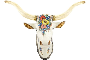 Polish Pottery Bull Head Wall Mount 18