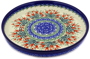 Polish Pottery Cookie Platter 10