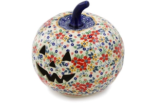 Polish Pottery Pumpkin Luminary 9