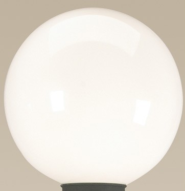 White Globe Replacement for Patio Lamps  - 7.5' diameter