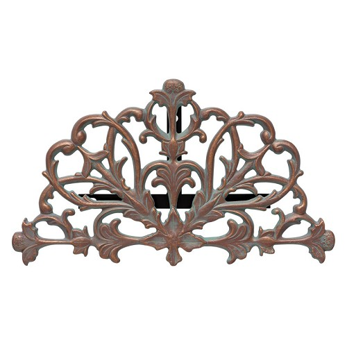 Wall Filigree Hose Holder by Whitehall Products - Copper Verdigris