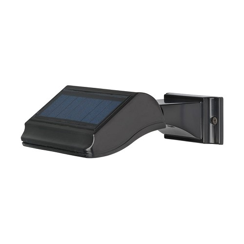 Wall Illuminator Solar Wall Lamp by Whitehall Products - Black