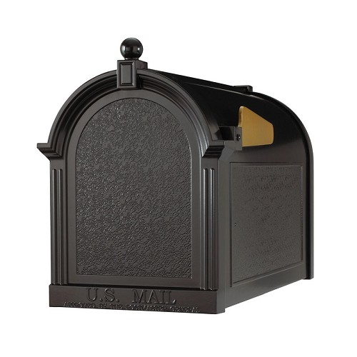 The Capitol Mailbox - Black Residential Post Mount mailbox.