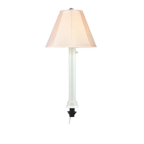 San Juan - Portable Weatherproof Umbrella Table Lamp 28' White Body