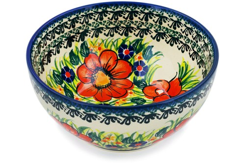 "Polish Pottery Bowl 6"" by Cer-Raf"