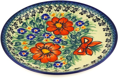 "Polish Pottery Salad & Dessert Plate 7"" by Cer-Raf"