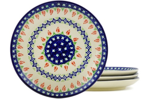 "Polish Pottery Square Bowl 8"" by Ceramica Bona"