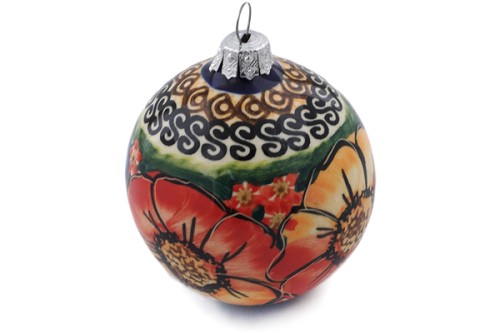 "Polish Pottery Ornament Christmas Ball 4"" by Cer-Raf"