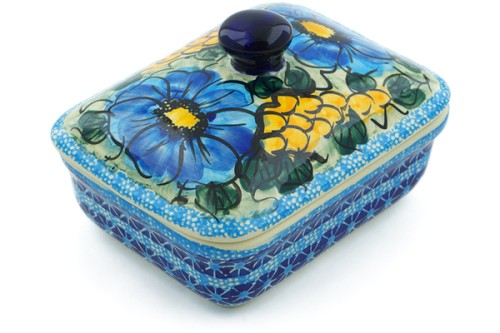 Polish Pottery Butter Dish 5' by Cer-Raf