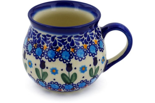 Polish Pottery Bubble Mug 9 oz by Ceramika Bona